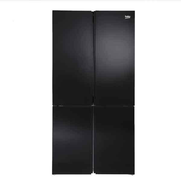 מקרר 4 דלתות 535 ליטר Beko GN1406221GB זכוכית שחורה בקו