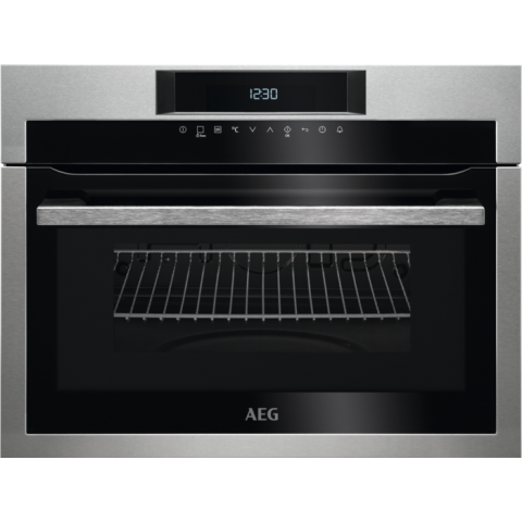 תנור בנוי 46 ליטר משולב מיקרוגל נירוסטה AEG KME721000M אאג