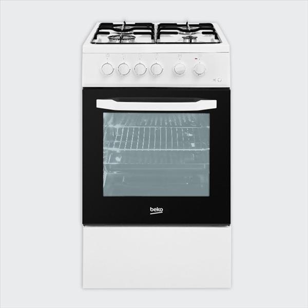 תנור משולב כיריים עומד דגם FSE52010DW Beko בקו
