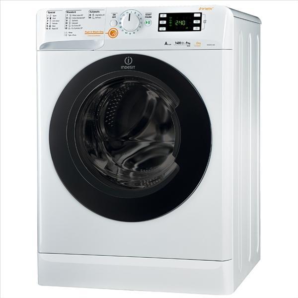 """מכונת כביסה פתח קידמי Indesit XWDE 961480X 9 ק""""ג"""