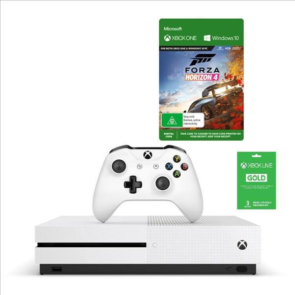 Microsoft Xbox One S 1TB +Forza Horizon 4 מיקרוסופט