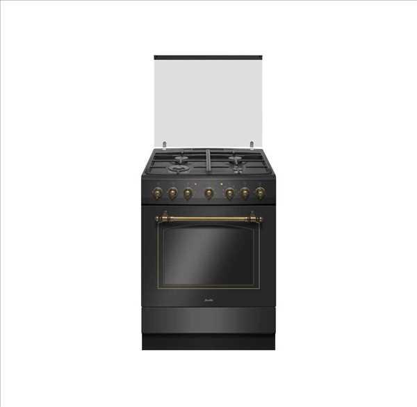 תנור משולב כפרי Sauter RUSTIC 7000B שחור סאוטר