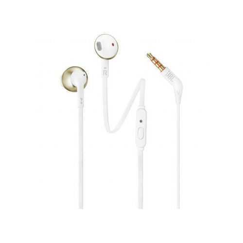 אוזניות חוטיות JBL T205 - זהב
