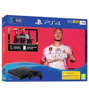 מארז חגיגי Sony PS4 SLIM 1TB FIFA 20 CUH-2216B-FUT20 סוני
