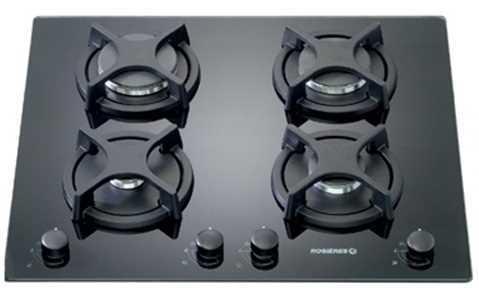 כיריים גז זכוכית שחורה Rosieres RTV648FPNISR