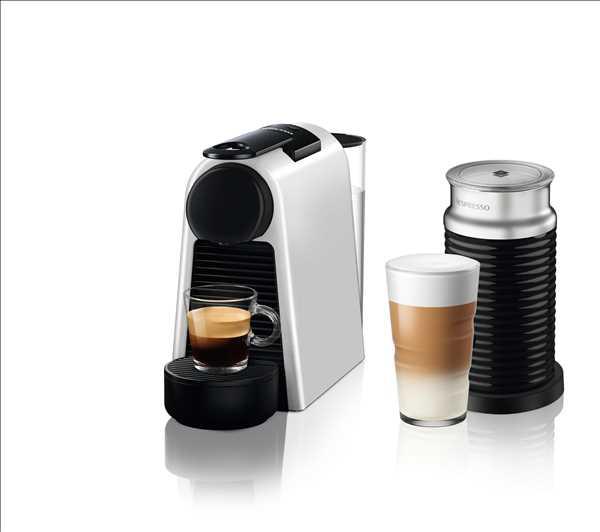 מכונת אספרסו Nespresso Essenza Mini D30 נספרסו בגוון כסוף מט (מהדורה מוגבלת) כולל מקציף חלב ארוצ'ינו