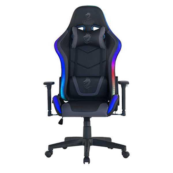 כיסא גיימינג Dragon Space Gaming Chair עם תאורה RGB - צבע אפור