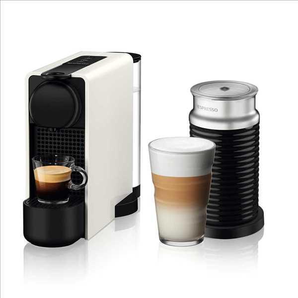 מכונת קפה NESPRESSO Essenza Plus C45 עם מקציף חלב - צבע לבן