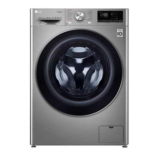 """מכונת כביסה פתח קידמי LG F16105S אל ג'י 10.5 ק""""ג"""