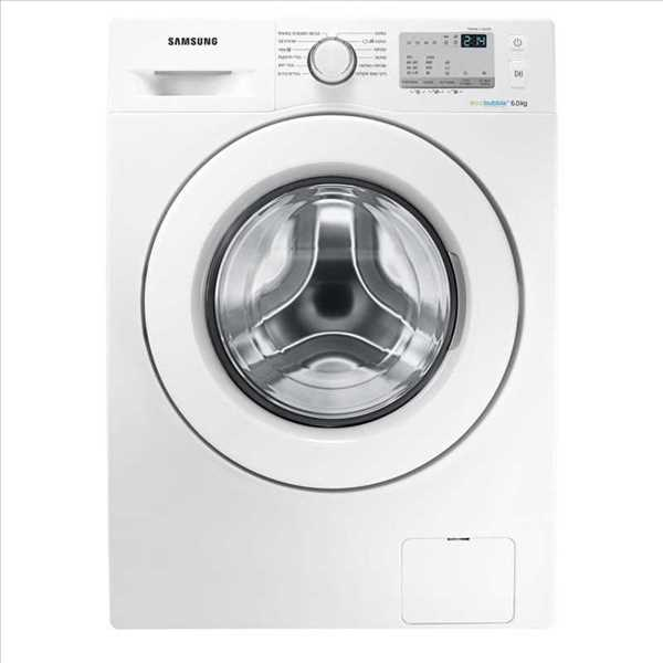 """מכונת כביסה פתח קידמי Samsung WW6SJ4063LW 6 ק""""ג סמסונג"""