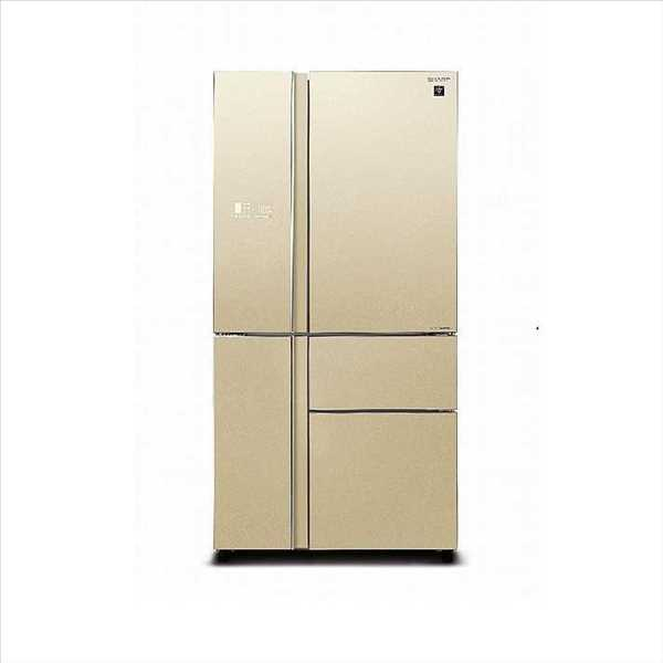 מקרר 5 דלתות SHARP SJ-R9730 שארפ 661 ליטר ציפוי זכוכית שמפניה