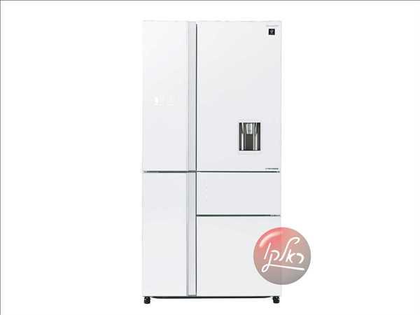 מקרר 5 דלתות SHARP SJ-9832 שארפ 651 ליטר ציפוי זכוכית לבנה
