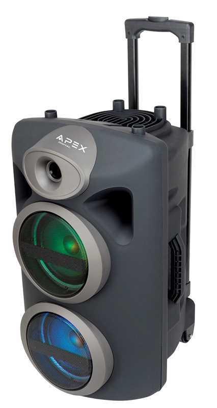 רמקול קריוקי עם מקרופון APLEX AP-1430