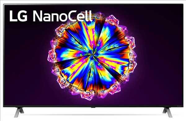 """טלוויזיה בגודל 65"""" דגם LG SMART 4K 65NANO90 LED אל-ג'י"""