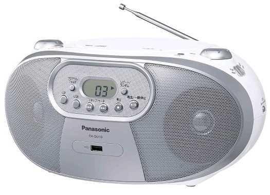 מערכת שמע ניידת Panasonic RX-DU10GA-W פנסוניק צבע לבן