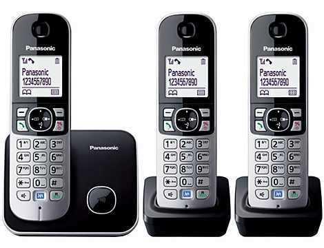 טלפון אלחוטי + 2 שלוחות Panasonic KX-TG6813MBB פנסוניק