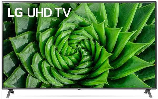 """טלוויזיה חכמה 75"""" IPS Ultra HD 4K דגם: 75UN8080 אל-ג'י LG"""