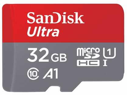 כרטיס זיכרון SanDisk Ultra SDSQUAR-032G 32GB Micro SD UHS-I סנדיסק