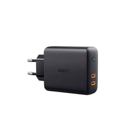 מטען מהיר AUKEY USB-C PD x 2 36W