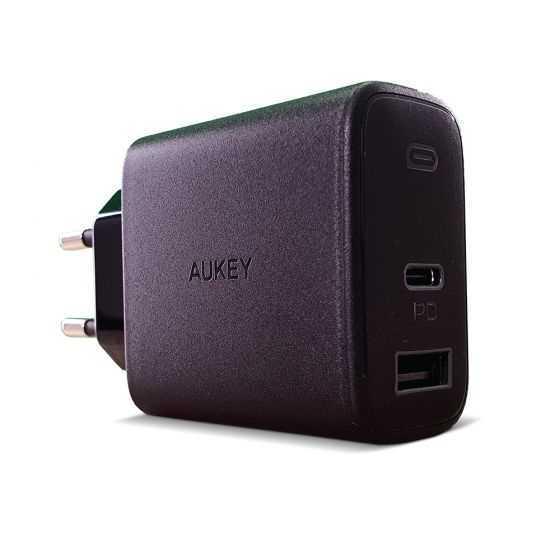 מטען מהיר מיני AUKEY USB+PD 30W