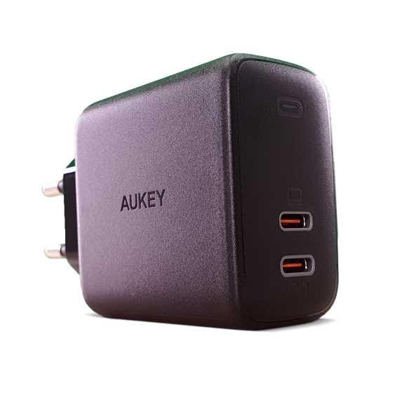 מטען מהיר מיניAUKEY 65W USB-C X2