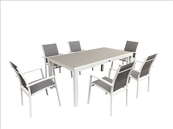 פינת אוכל מפוארת עם 6 כסאות דגם Miami תוצרת Australia Garden