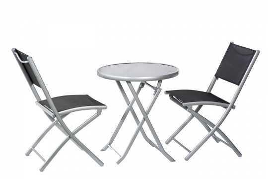 שולחן עם 2 כסאות מתקפלים לגינה Bologna תוצרת Australia Camp
