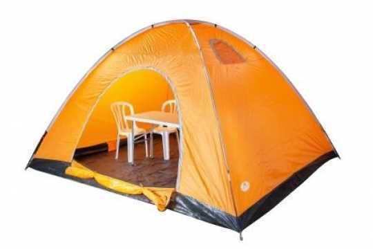 """אוהל 8 אנשים 400-300-200 ס""""מ + פנס תוצרת Australia Camp"""