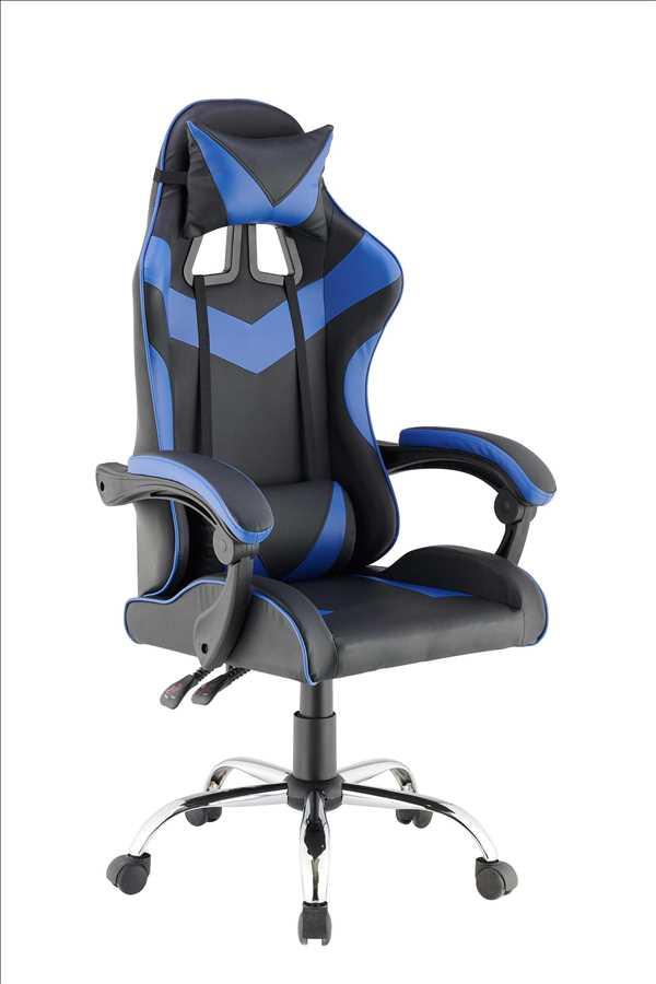 כסא גיימרים אורתופדי דגם PRO3 מבית NINJA EXTRIM שחור כחול